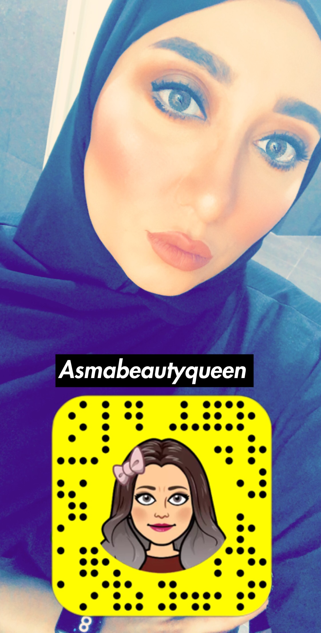 @asmabeautyqueen's snapchat picture for sephora