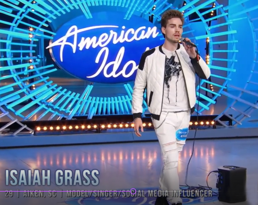 @isaiahgmusic's snapchat picture for americanidol