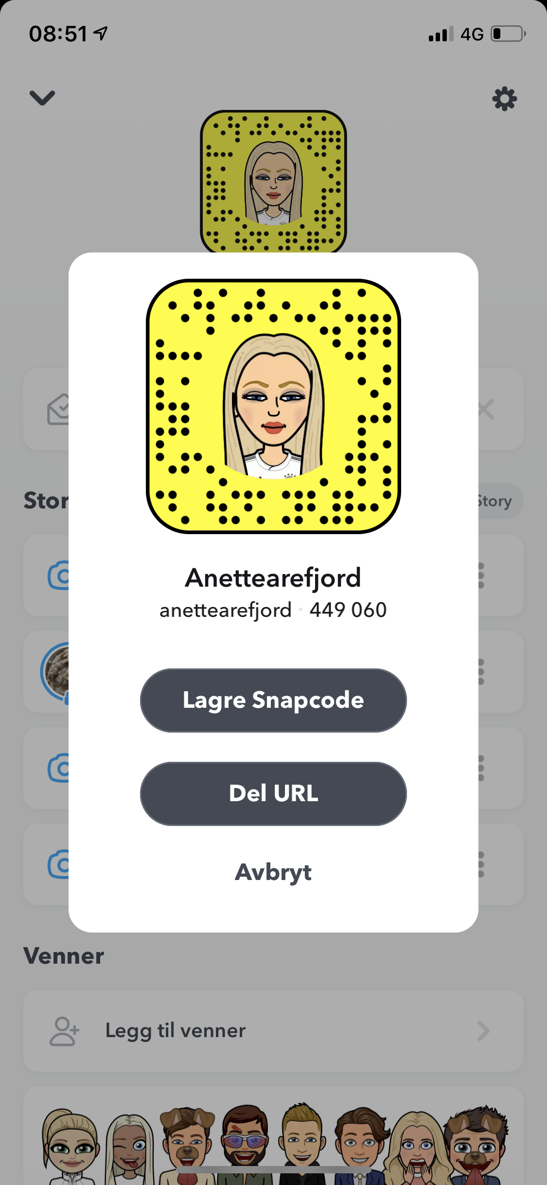 @anettearefjord's snapchat picture for anettearefjord