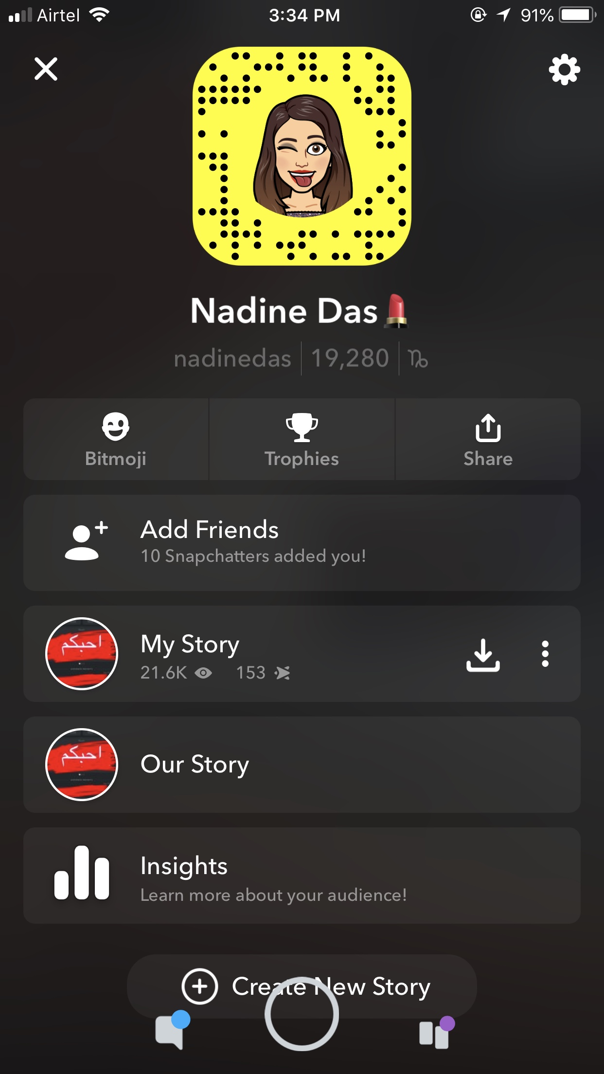@nadinedasofficial's snapchat picture for nadinedasofficial