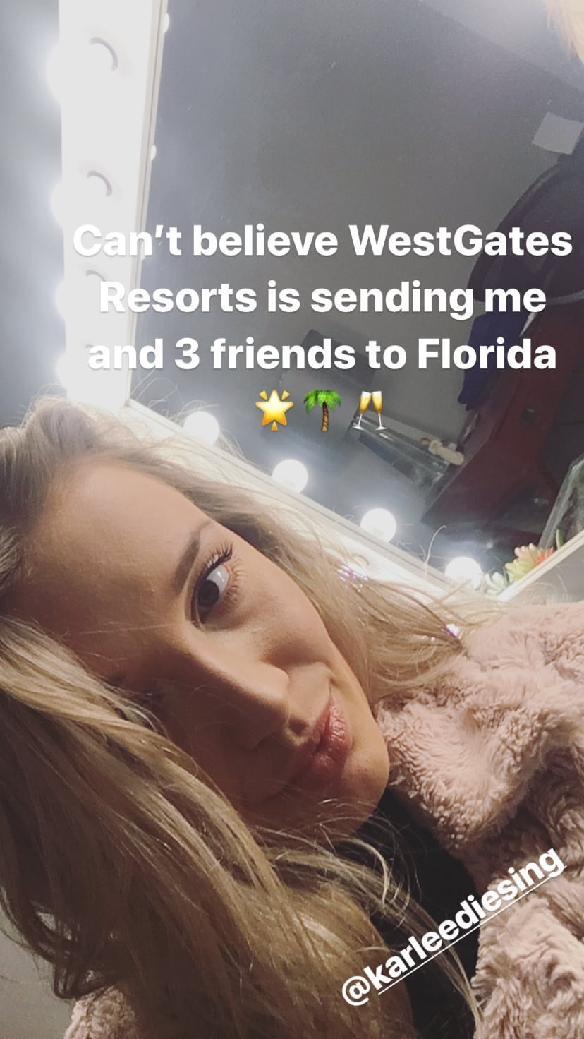 @rachelkaup's snapchat picture for westgateresorts