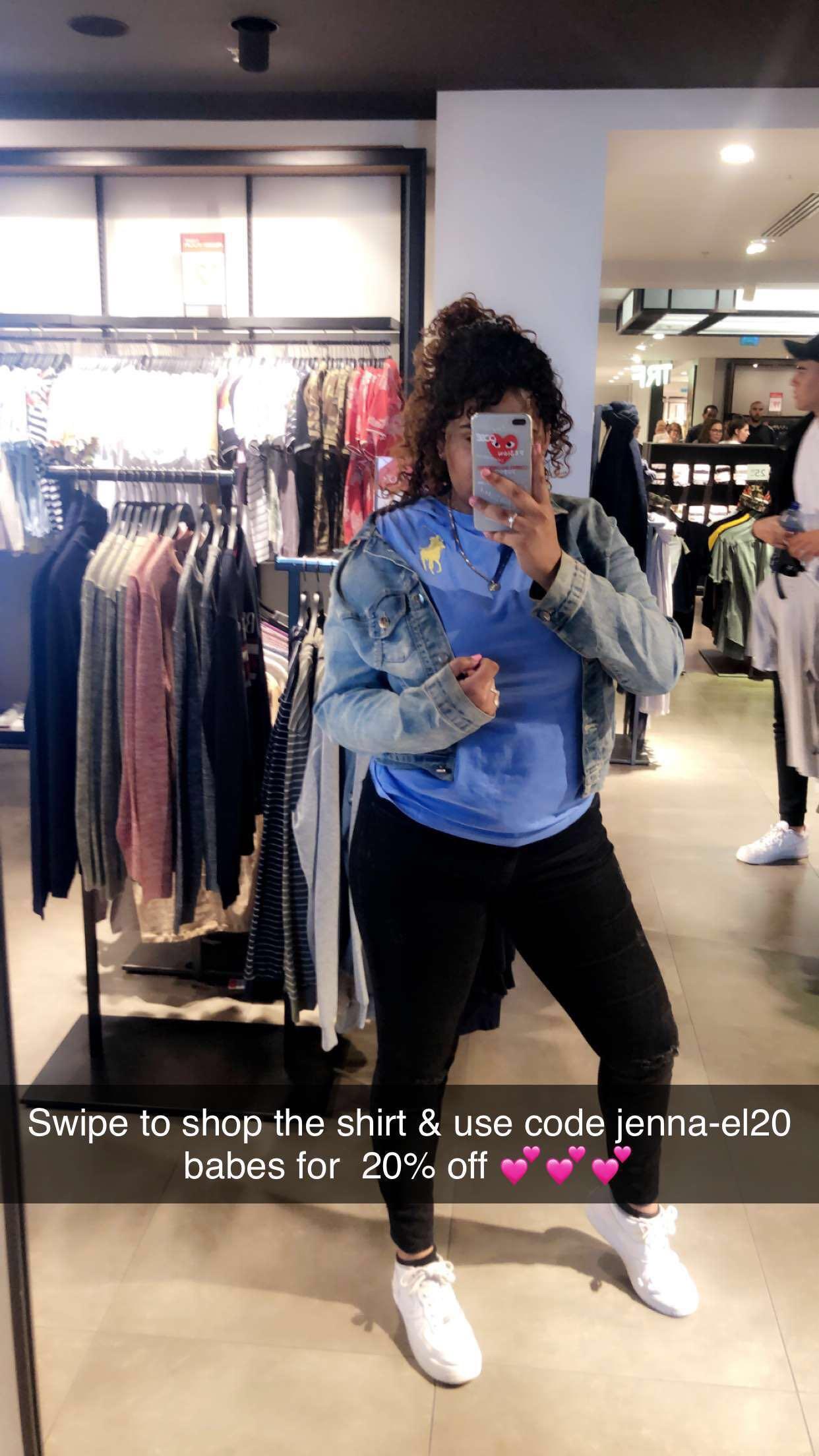 @jenna_elkh's snapchat picture for kidsbrandstore