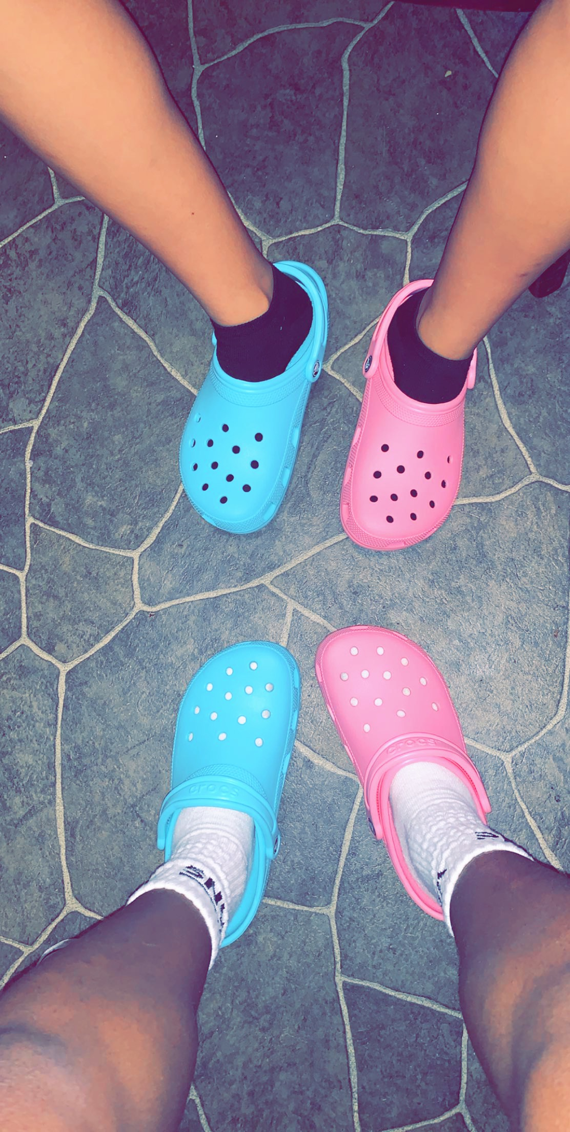 @adore.milah's snapchat picture for crocs
